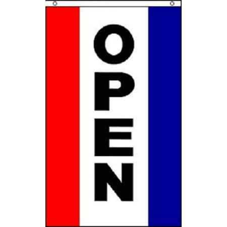 Sign Flag And Banner - OPEN Vertical Flag Business Store Advertising Banner Pennant Restaurant Sign 3x5, Home and Holiday Flags By Home and Holiday Flags,USA
