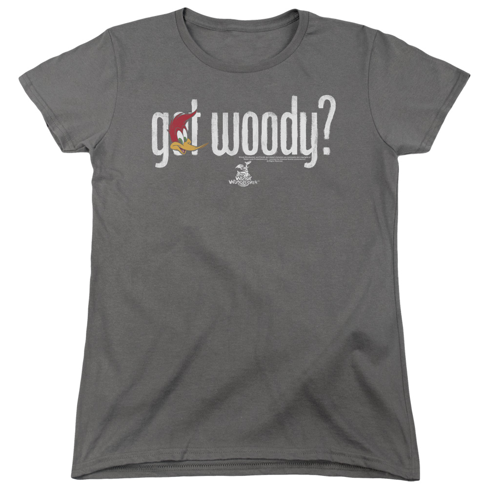 Woody Woodpecker Got Woody Womens Short Sleeve Shirt