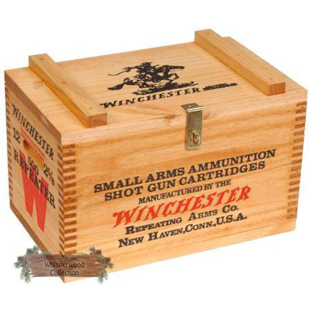 #3025 Winchester Wooden Ammo Box - Stain only - Walmart