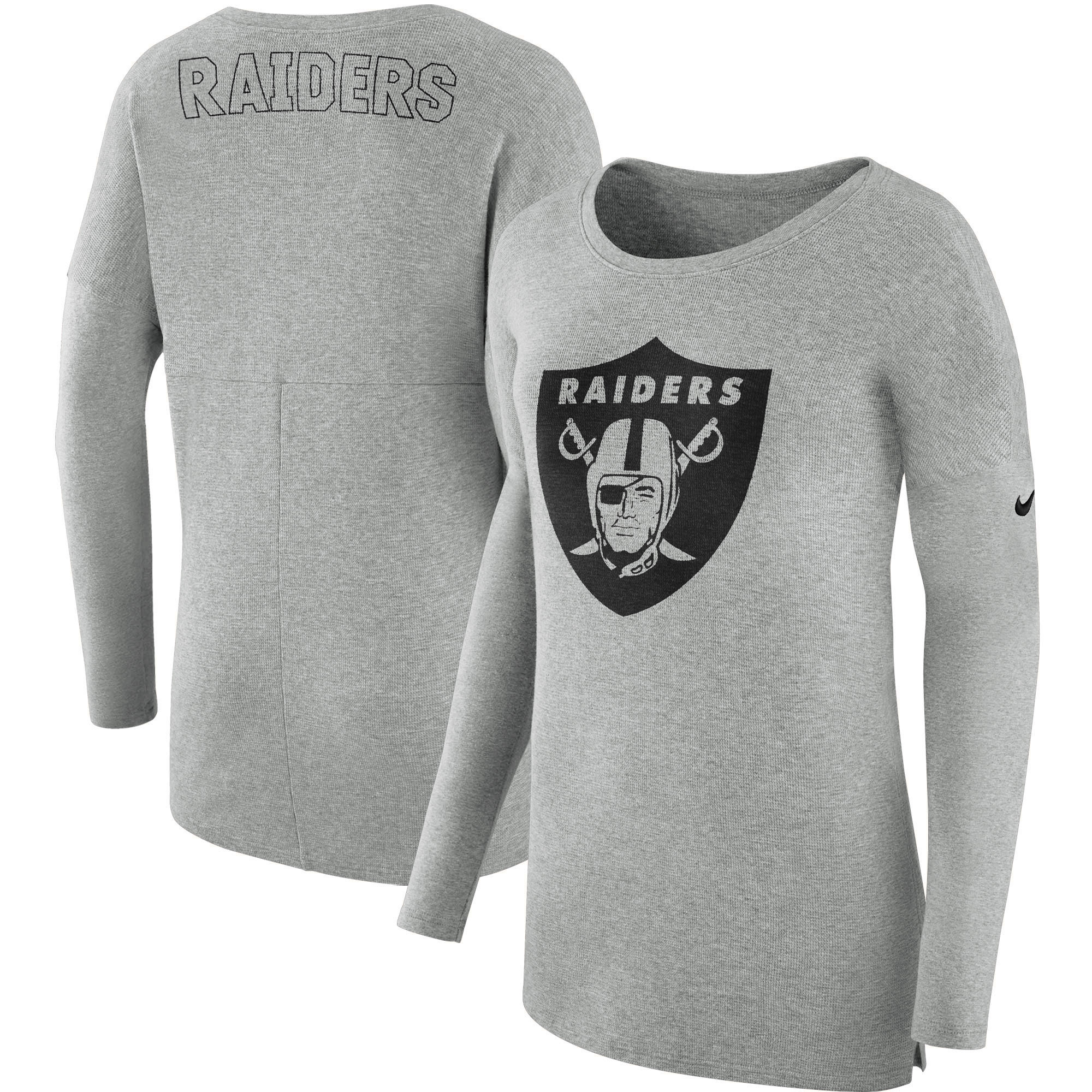 a9d4c05de3a Oakland Raiders Nike Women s Cozy French Terry Crew Sweatshirt - Heathered  Gray - Walmart.com