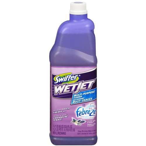 Swiffer: Multi-Purpose Cleaner With Febreze Fresh Scent Lavender Vanilla & Comfort Wetjet Cleaning Solution, 33.8 fl oz