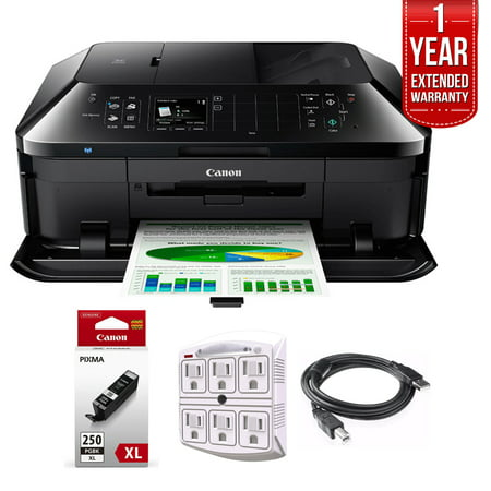 canon pixma mx922 wireless inkjet office all-in-one printer + 1 year