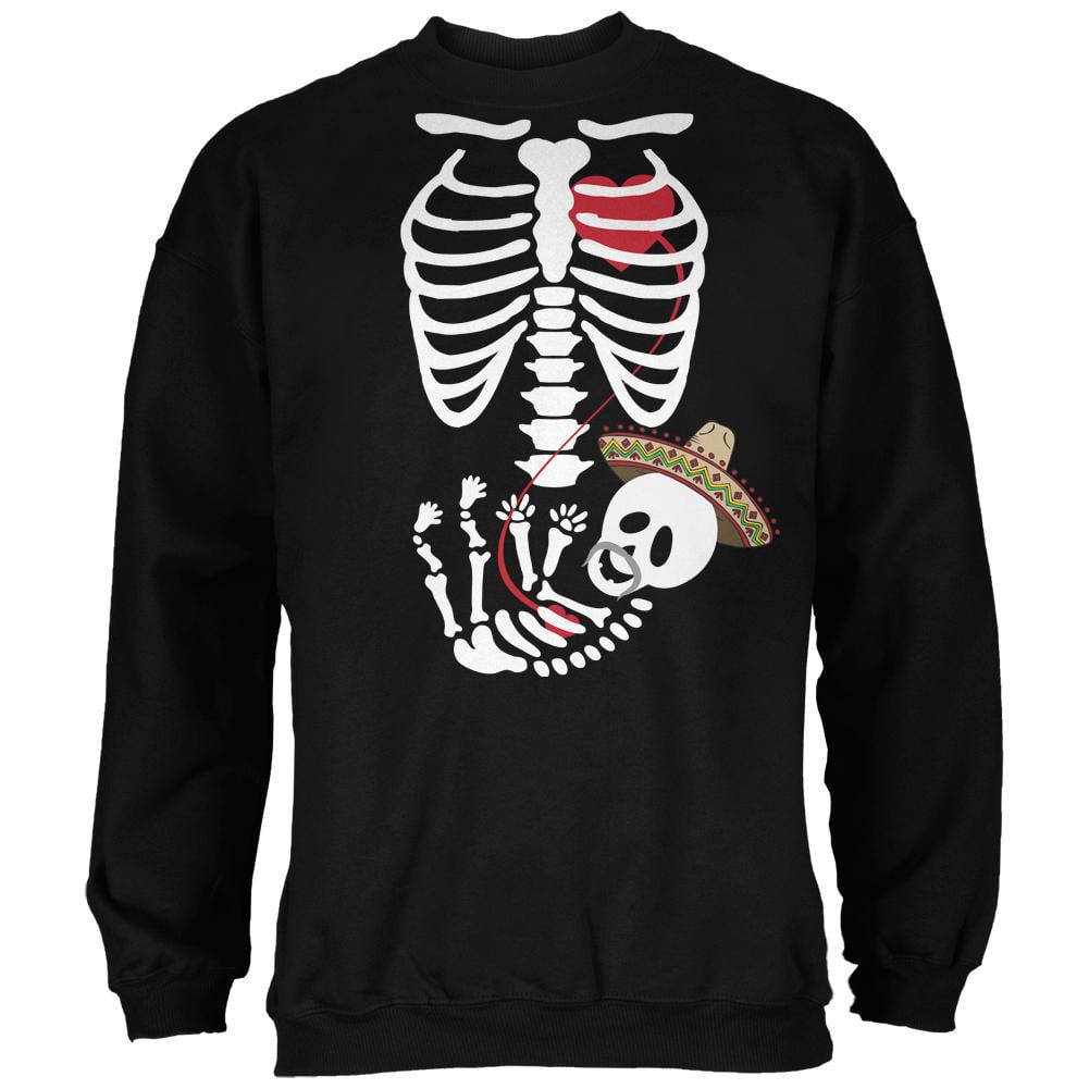 Cinco de Mayo Baby Skeleton Black Adult Sweatshirt