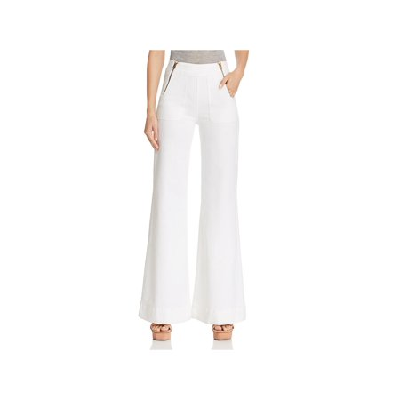 Blank NYC Womens Denim Wide Leg Flare Jeans