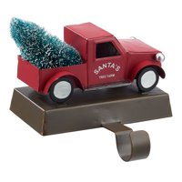 Holiday Time Red Old Red Truck Christmas Stocking Holders, 4.9 in