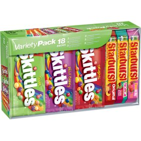 8c2731cb Skittles & Starburst Fruity Candy, Full Size Variety Mix Box, 37.05 Ounce,  18 Pieces