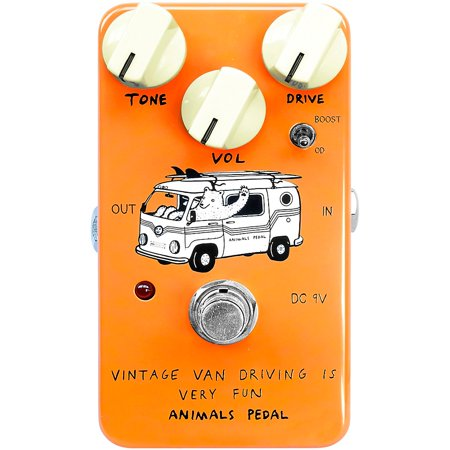 Animals Pedal Vintage Van Overdrive Effects Pedal Candle (Best Overdrive Pedal For Humbuckers)
