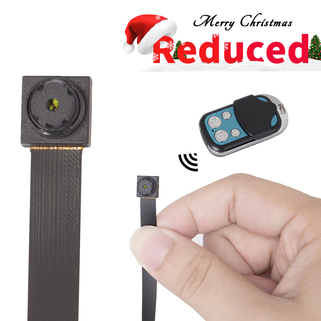 FREDI HD 1080P/720P Mini Super Small Portable DIY Hidden Spy Camera Loop Video Recording Video Recorder Motion Activated Security DVR with a remote controller