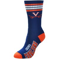 Virginia Cavaliers For Bare Feet Women's 4-Stripe Deuce Crew Socks