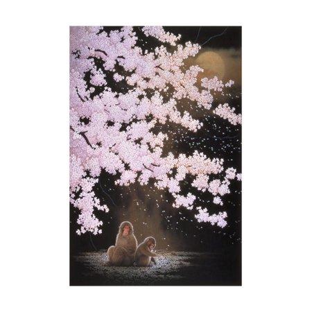 Falling Cherry Blossoms Print Wall Art By Joh (Falling Cherry Blossoms)