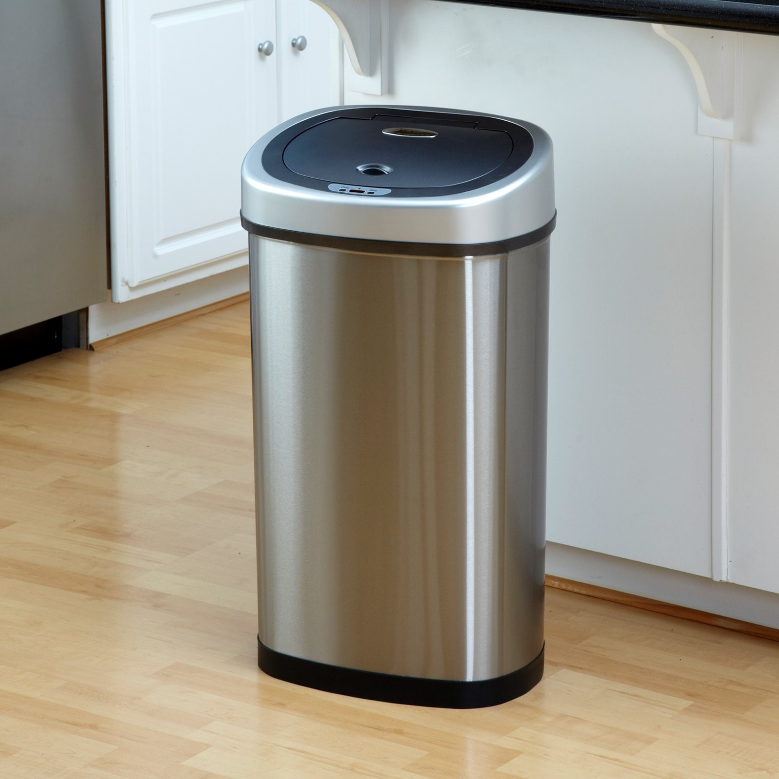 Nine Stars DZT-50-9 Touchless Stainless Steel 13.2 Gallon Trash Can