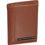 Tommy Hilfiger Men's Leather Credit Card Wallet Bifold Dark Brown 5675-02