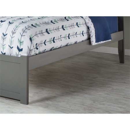 Atlantic Furniture Orlando Full Platform Panel Bed with Trundle in Gray - image 2 of 5