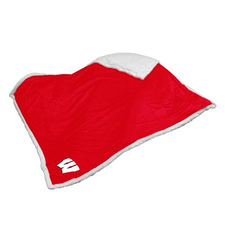 Logo Chair NCAA Wisconsin Sherpa Blanket (Wisconsin Blanket)