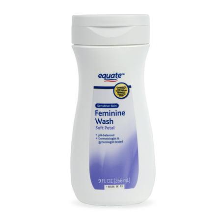 Equate Sensitive Skin Feminine Wash, Soft Petal, 9