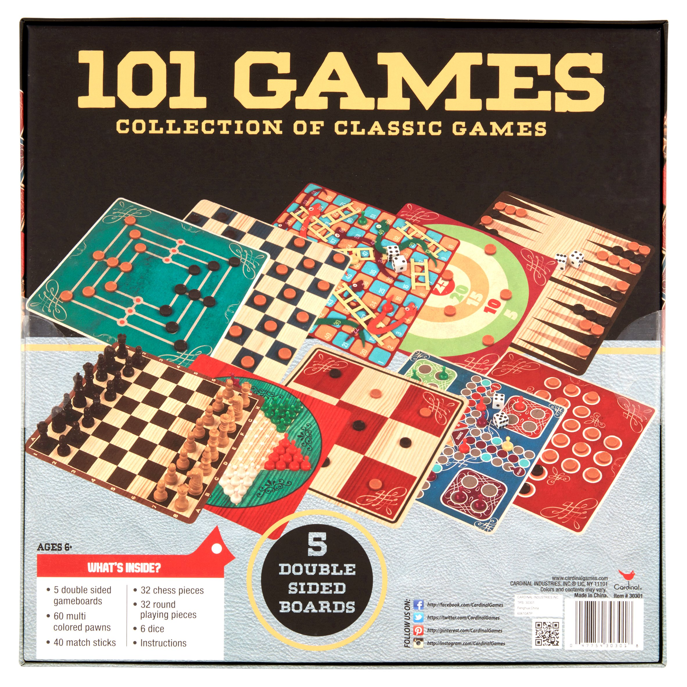 Cardinal 101 Games Collection of Classic Games Ages 6+