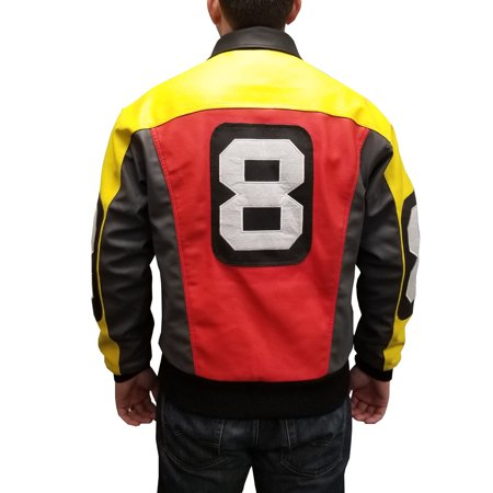 David Puddy 8 Ball Bomber Jacket Seinfeld Costume Coat TV Show 90s Rap Rapper (Bomber Jacket Costume)