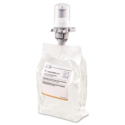 Rubbermaid Flex Enriched Foam Alcohol-Plus E3 Hand Sanitizer Refill, 1300mL, Clear, 3/Carton