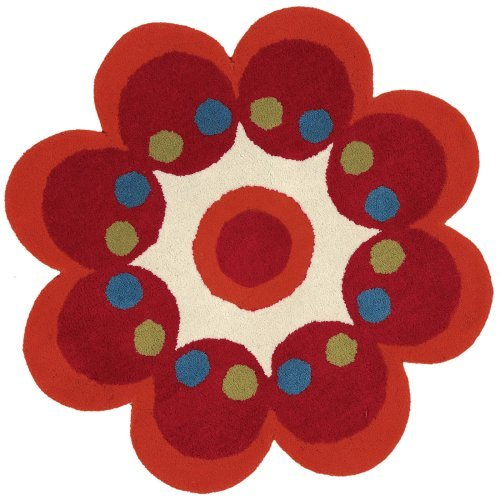 Dynamic Rugs Fantasia 1707 Red Flower Kids Area Rug