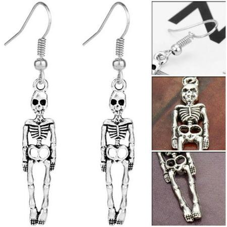 KABOER Halloween Skeleton Skull Stud Earrings Jewelry Vintage Punk Earrings  Girl Nice