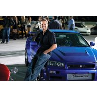 Paul Walker Blue Nissan Skyline Gt-R Fast and Furious Car 24x36 Poster