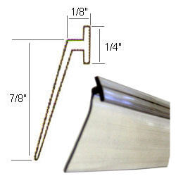 Angled Clear Vinyl Framed Shower Door Drip Sweep - 50 ft ...