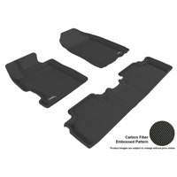 3D MAXpider 2006-2011 Honda Civic Coupe Front & Second Row Set All Weather Floor Liners in Black with Carbon Fiber Look