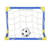 Folding Mini Football Soccer Goal Post Net Set with Pump Kids Sport Indoor Outdoor Games Toys Plastic