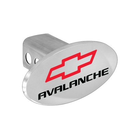 Chevy Avalanche Metal Trailer Hitch Cover Plug With Red Chevrolet Bowtie