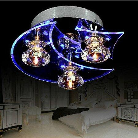 LED Modern Crystal 20W Ceiling Light Pendant 3Lamp Fixture Lighting Chandelier