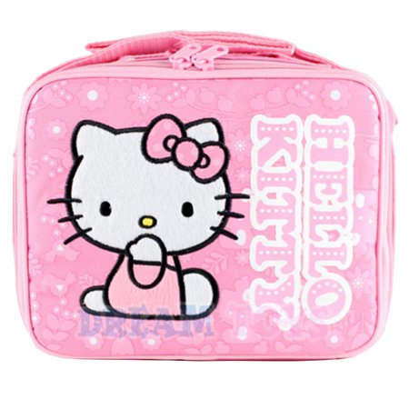 SK Gfits and Toys - Sanrio Hello Kitty Lunch Bag in Pink - Floral Girls  School Case Box - Walmart.com f64ec9b09199f