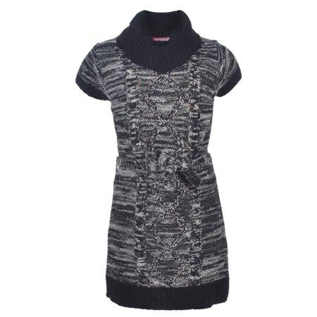 944296cd12c Dream Star Girls  Belted Sweater Dress - Walmart.com