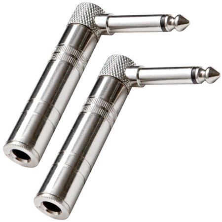 (Seismic Audio  - (2 Pack) Right Angle Guitar Cable Adapter 1/4