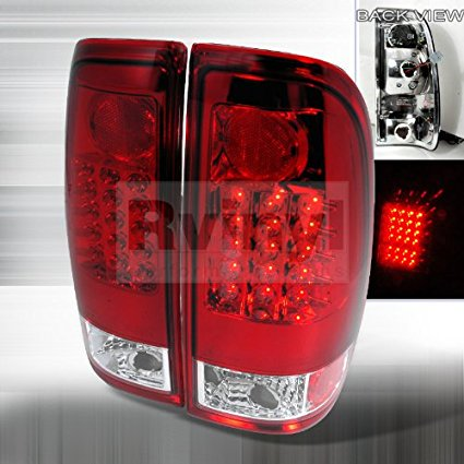 Ford F 150 1997 1998 1999 2000 2001 2002 2003 Led Tail Lights Red