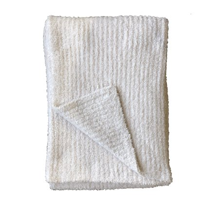 Undie Couture Fluffy Plush Cozy Ribbed Throw Blanket