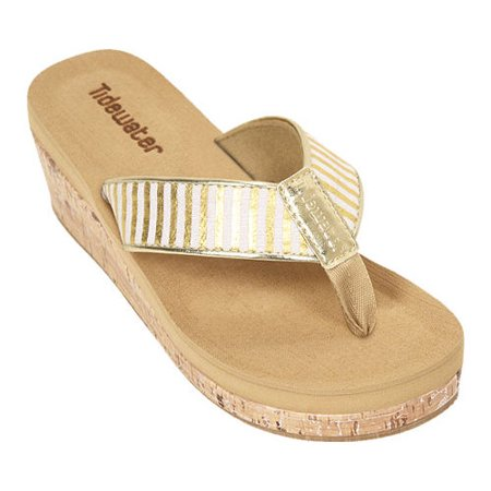 Womens Tidewater Sandals Onslow Gold Wedge