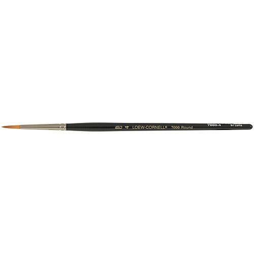 La Cornielle Golden Taklon Round Brush, Size 4