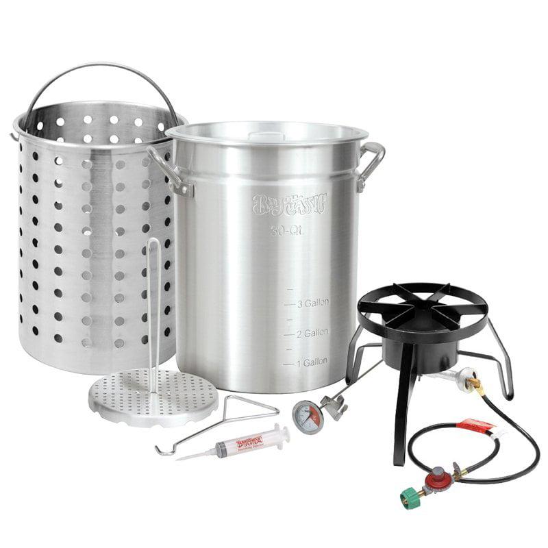 Bayou Classic Aluminum Turkey Fryer Kit with Basket - 30 qt.