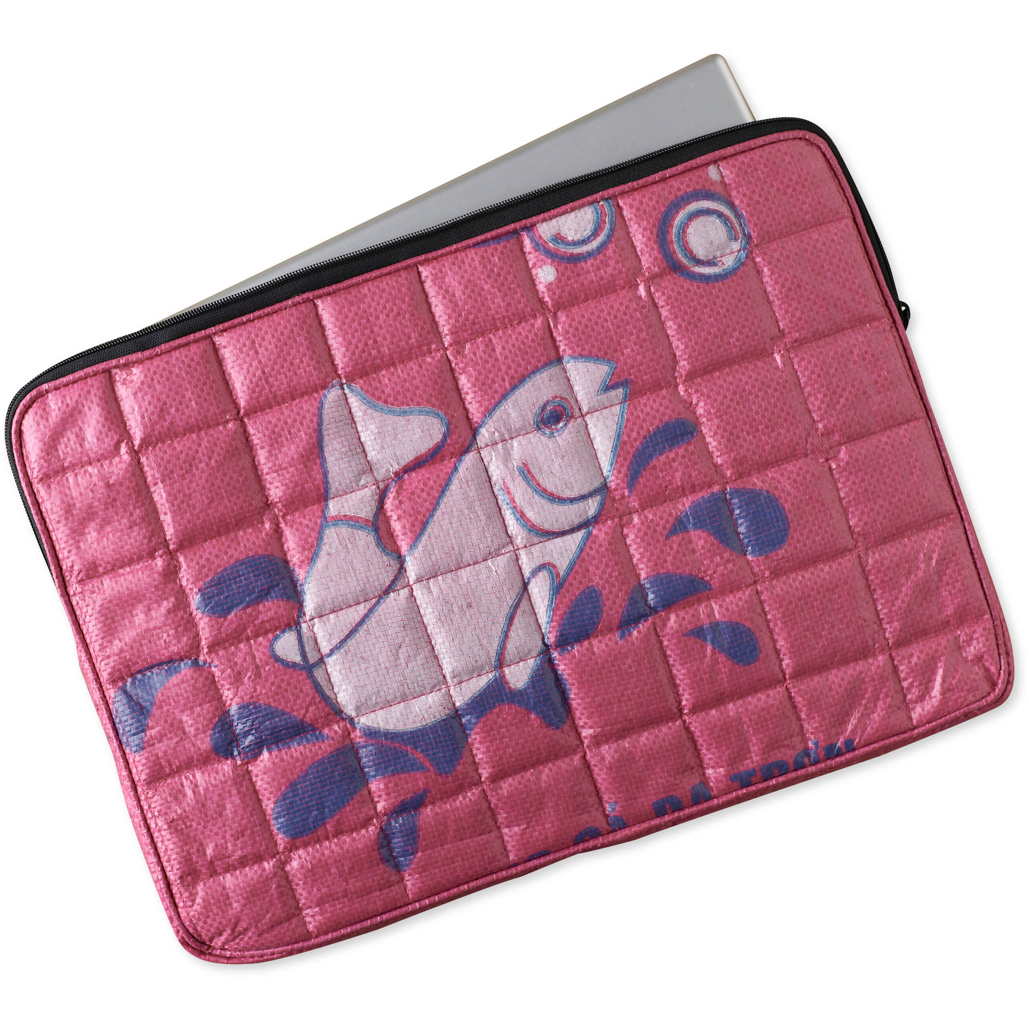 Recycled Rice Bag Quilted Laptop Case by Nomi Network for Full Circle Exchange