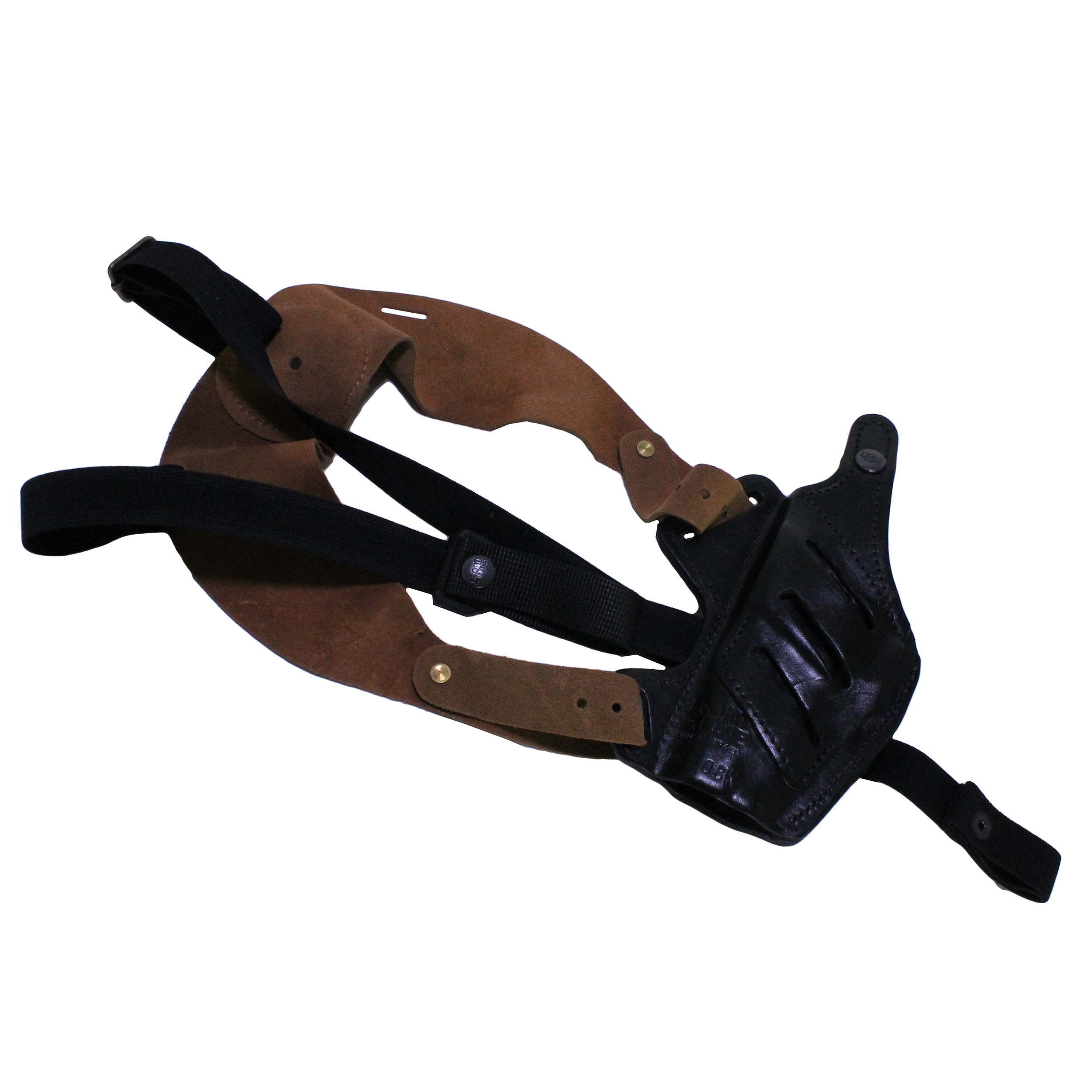 Frontline Fast Draw 5 Way Leather Shoulder Holster Sig Sauer P226, Black, Right Hand