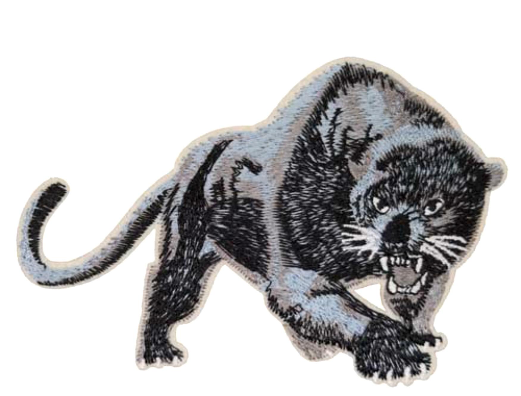 Black panther cat puma jaguar leopard cougar animal applique iron-on patch - Walmart.com