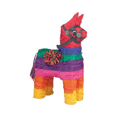Rainbow Donkey Pinata, Multicolor, 10in x 19in (Pinata Donkey)