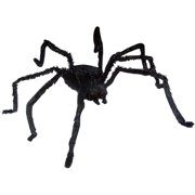 """12"""" Light-up Long Hair Giant Spider Halloween Decoration"""