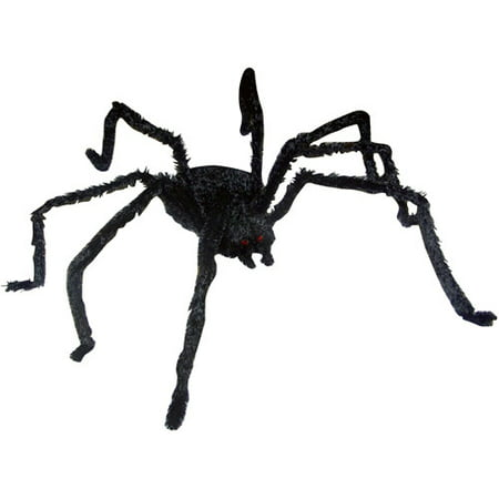 12 light up long hair giant spider halloween decoration - Halloween Spider Decoration