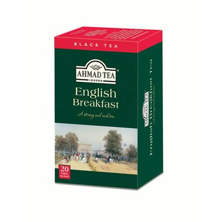 Ahamd Tea, English Breakfast Tea, 20 ct, 1.4oz (Pack of 6)