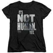 The Thing Not Human Yet Womens Short Sleeve Shirt