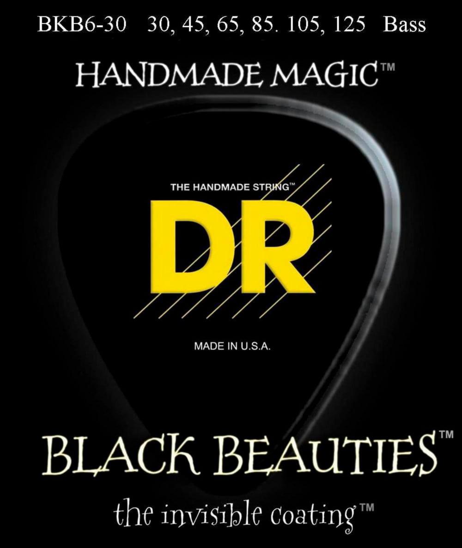 DR Strings BKB6-30 Black Beauty 6-String Bass Strings by DR Strings