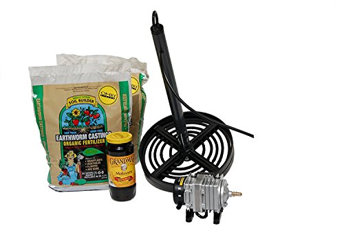 Composting Tea Brewer Kit 2- For Vermicomposting Natural Fertilizer by Southern Garden Tools