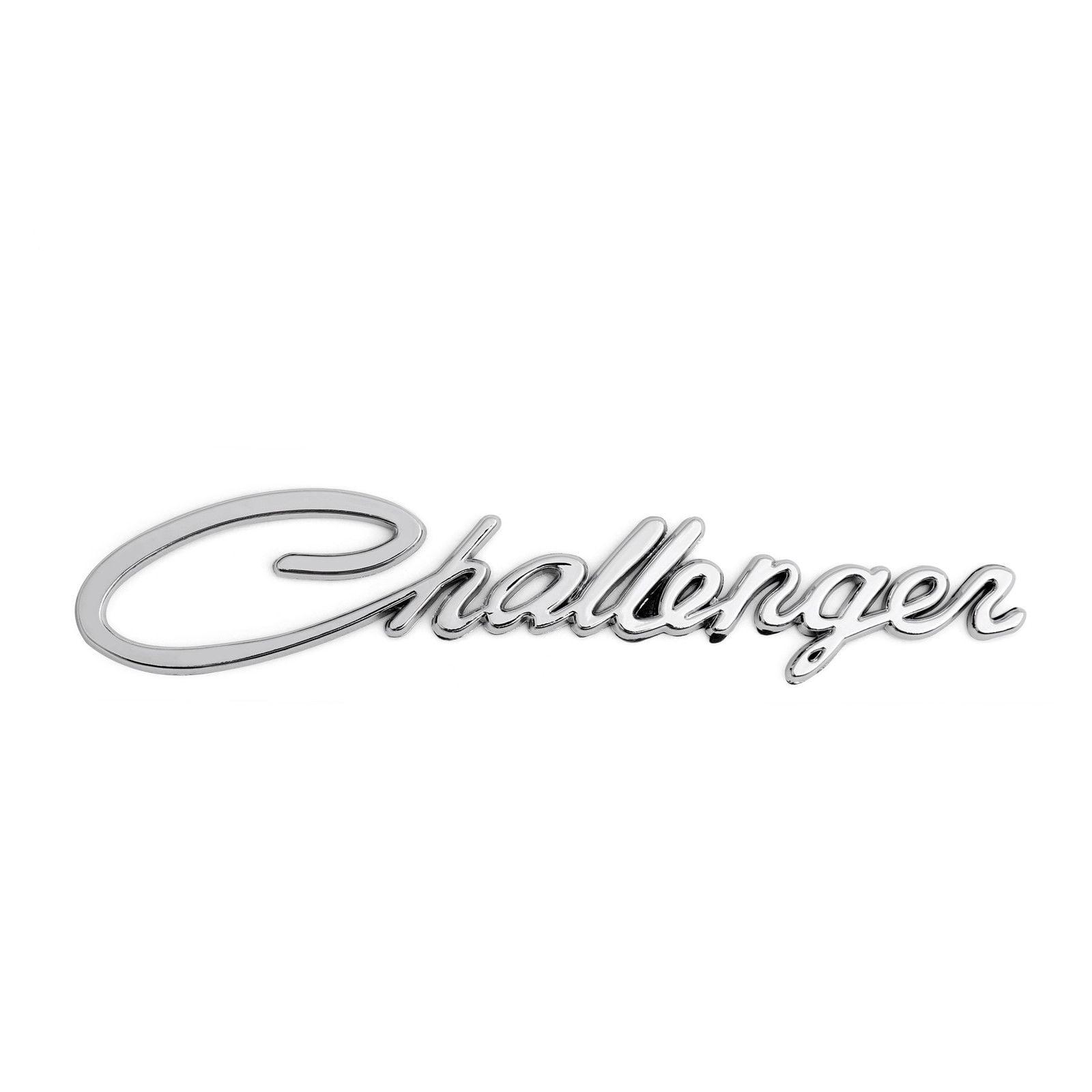 dodge challenger abs chrome challenger nameplate classic script emblem badge sticker walmart com walmart com dodge challenger abs chrome challenger nameplate classic script emblem badge sticker walmart com