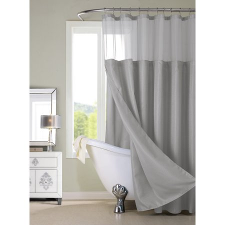 Dainty Home Complete Shower Curtain Set with Detachable Liner